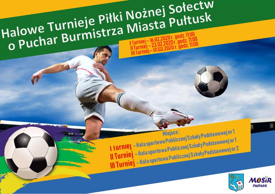 Turniej pilki nożnej sołectw - plakat