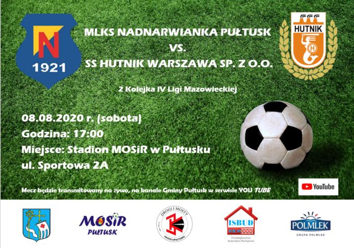 plakat Nadnarwianka zaproszenie na mecz