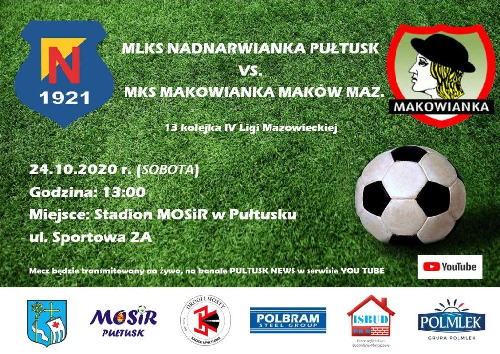 plakat na mecz Nadnarwianka vs Makowianka