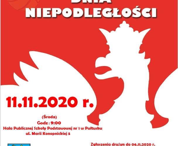 Plakat Turniej piłki siatkowej 11.11.2020