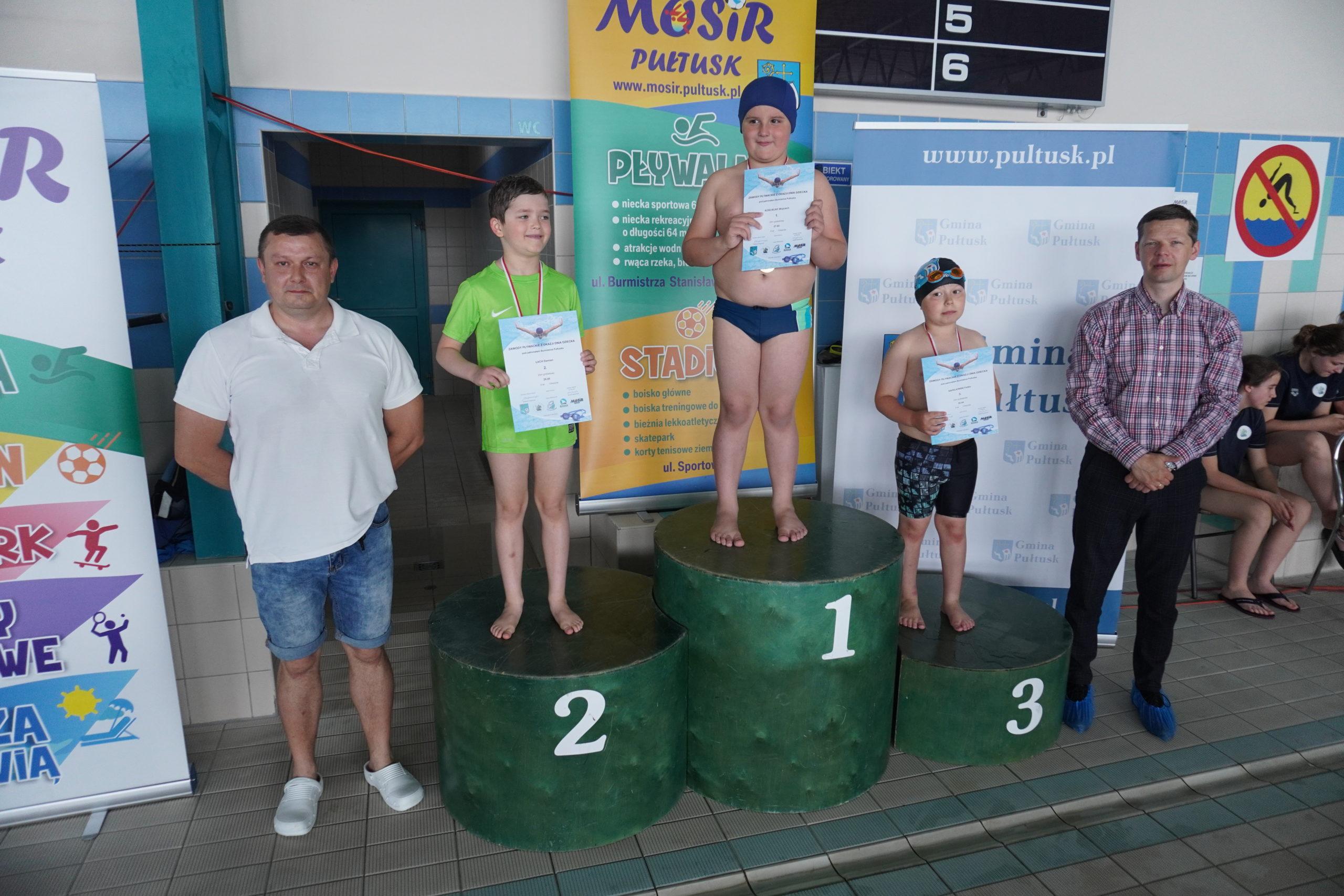 Zawody pływackie z okazji Dnia Dziecka